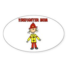 Firefighter Mom Oval Decal