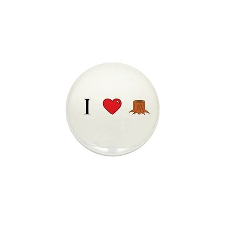 I Love Stump Mini Button