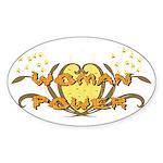 Woman Power Oval Sticker