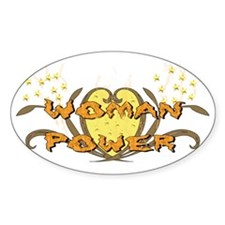 Woman Power Oval Decal