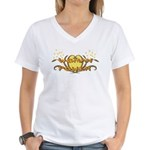 Woman Power Women's V-Neck T-Shirt