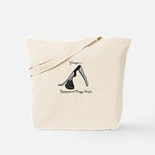 """Yoga, Downward Doggie Style"" Tote Bag"