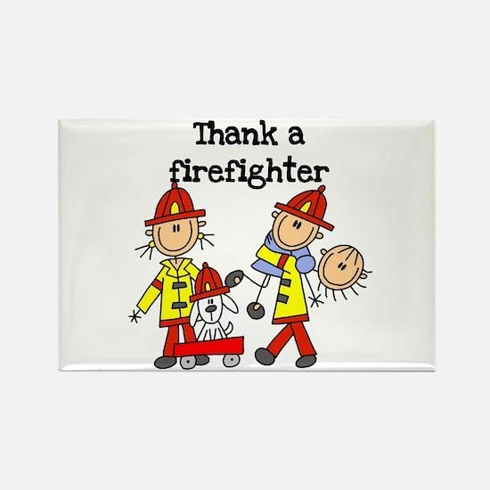 Thank a Firefighter Rectangle Magnet