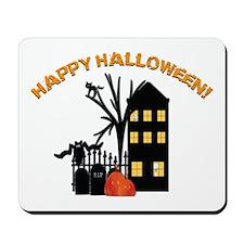 Haunted Halloween House Mousepad