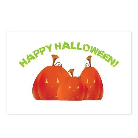 Halloween Jack-o-Lanterns Postcards (Package of 8)