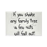 Shaking Family Tree (Black) Rectangle Magnet (10 p