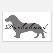 Dachshund Rectangle Decal