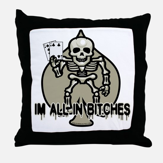 Halloween Poker Throw Pillow