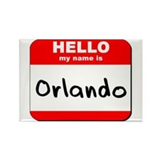 Hello my name is Orlando Rectangle Magnet