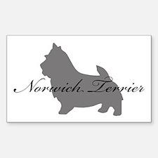 Norwich Terrier Rectangle Sticker 10 pk)