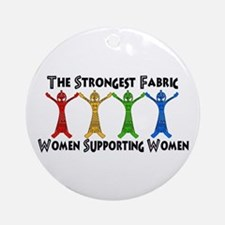 Women Supporting Women Ornament (Round)