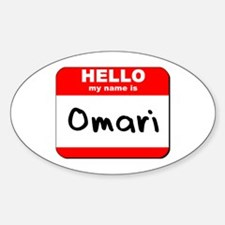 Hello my name is Omari Oval Decal