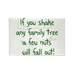 Shaking Family Tree (Green) Rectangle Magnet (10 p