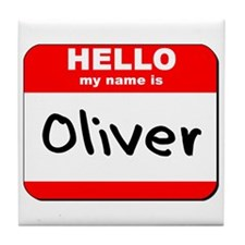 Hello my name is Oliver Tile Coaster