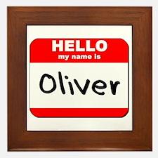 Hello my name is Oliver Framed Tile