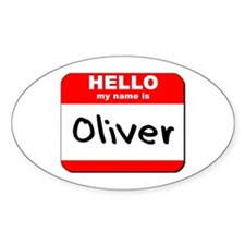 Hello my name is Oliver Oval Decal