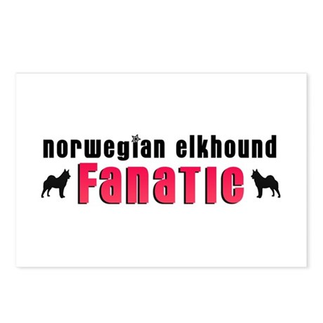Norwegian Elkhound Fanatic Postcards (Package of 8