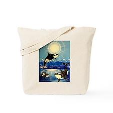 Cute Orca whale Tote Bag