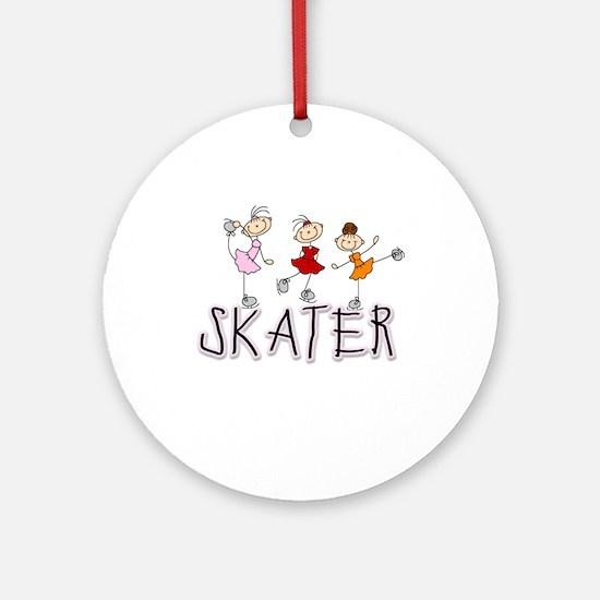 Skater Ornament (Round)