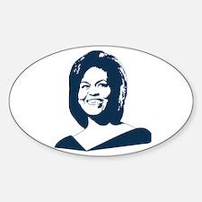 Michelle Obama (face) Oval Sticker (10 pk)
