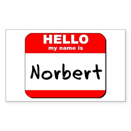 Hello my name is Norbert Rectangle Sticker