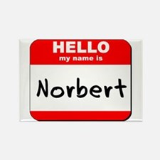 Hello my name is Norbert Rectangle Magnet
