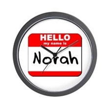 Hello my name is Norah Wall Clock