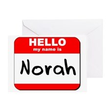 Hello my name is Norah Greeting Card