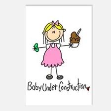 Baby Under Construction Postcards (Package of 8)