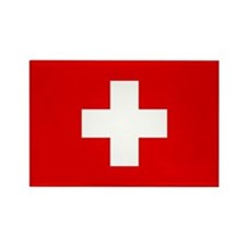 SWISS CROSS FLAG Rectangle Magnet