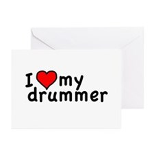 Love My Drummer Greeting Cards (Pk of 10)
