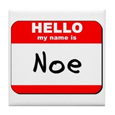 Hello my name is Noe Tile Coaster