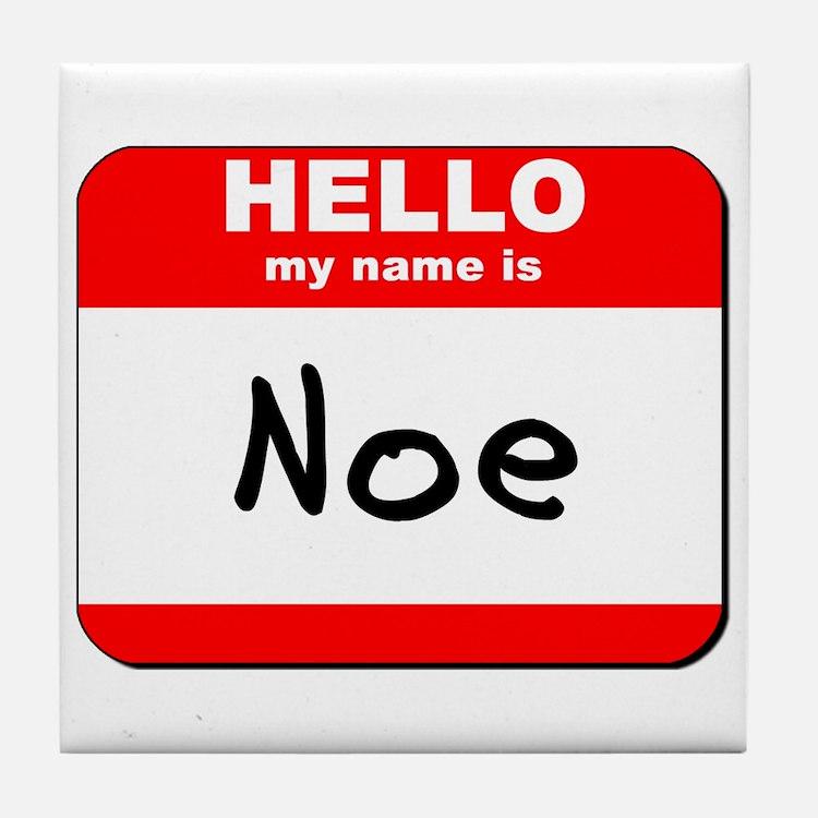 Hello my name is Noe Tile Coaster