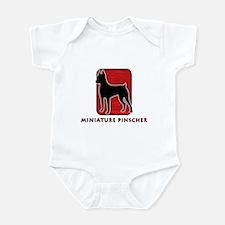 Miniature Pinscher Infant Bodysuit