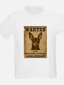 """""""Wanted"""" Miniature Pinscher T-Shirt"""