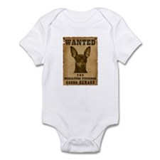 """Wanted"" Miniature Pinscher Infant Bodysuit"