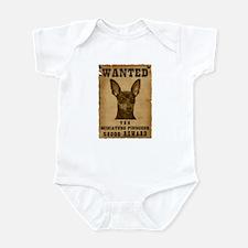 """Wanted"" Miniature Pinscher Infant Bodysuit"