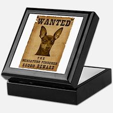 """""""Wanted"""" Miniature Pinscher Keepsake Box"""