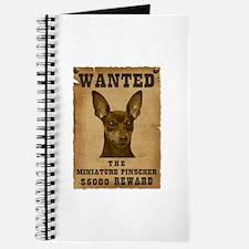 """""""Wanted"""" Miniature Pinscher Journal"""