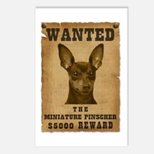 """Wanted"" Miniature Pinscher Postcards (Package of"