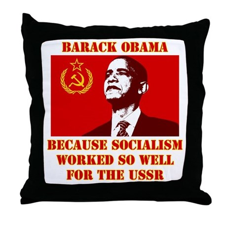 Obama sucks Throw Pillow