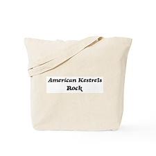 American Kestrelss rock Tote Bag