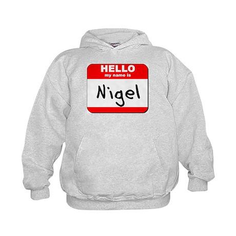Hello my name is Nigel Kids Hoodie