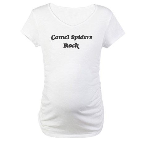 Camel Spiderss rock] Maternity T-Shirt