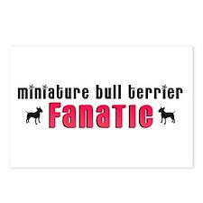 Miniature Bull Terrier Fanatic Postcards (Package