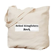 Belted Kingfisherss rock Tote Bag