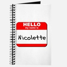 Hello my name is Nicolette Journal