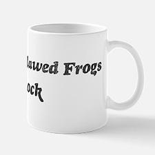 African Clawed Frogss rock Mug