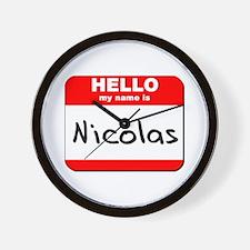 Hello my name is Nicolas Wall Clock