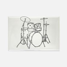 Drumset Rectangle Magnet (10 pack)